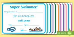 Free! – Swimming Certificate Templates – Physical Education inside Quality Swimming Certificate Template