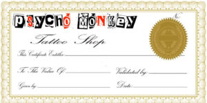 Free Tattoo Gift Certificate Template, Download Free Clip in New Tattoo Gift Certificate Template Coolest Designs