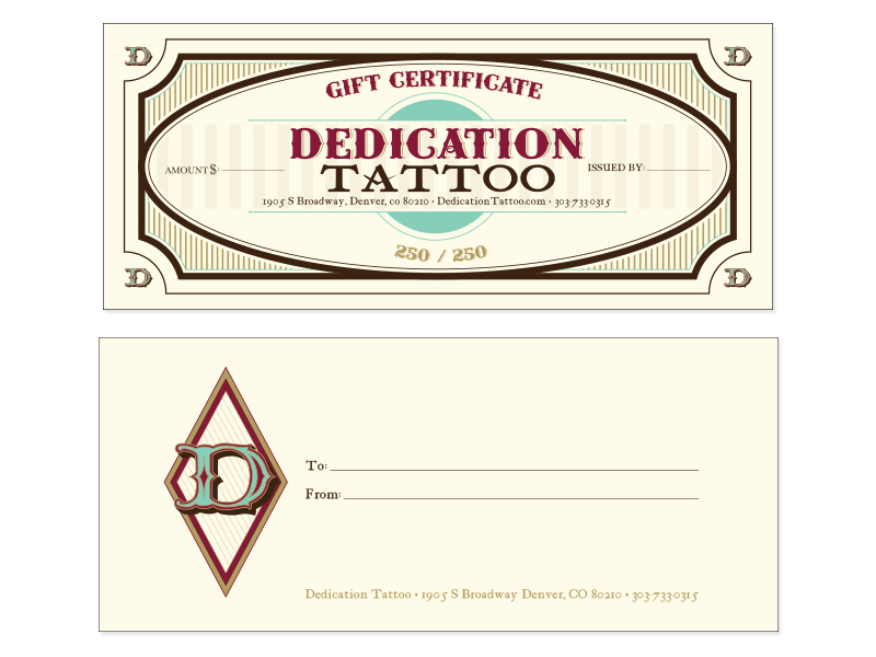 Free Tattoo Gift Certificate Template, Download Free Clip throughout Tattoo Gift Certificate Template