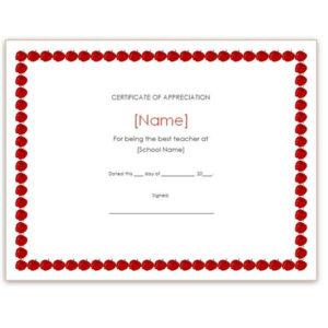 Free Teacher Appreciation Certificates: Download Word And throughout Teacher Appreciation Certificate Free Printable