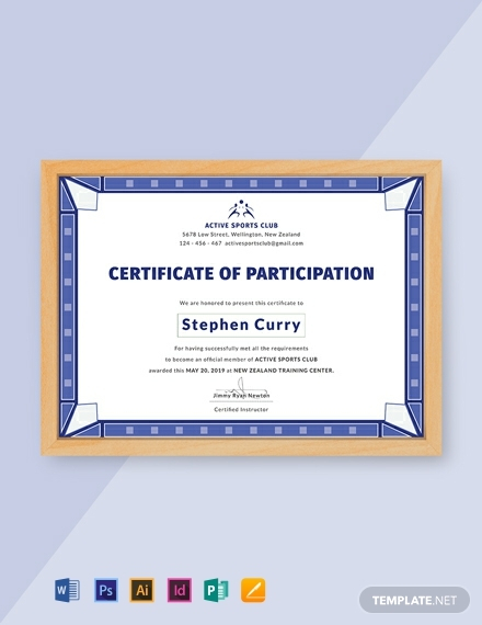 Free Templates For Certificates Of Participation (7 regarding Certificate Of Participation Template Doc 10 Ideas