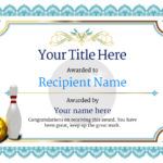 Free Ten Pin Bowling Certificate Templates Inc Printable Intended For 10 Certificate Of Championship Template Designs Free