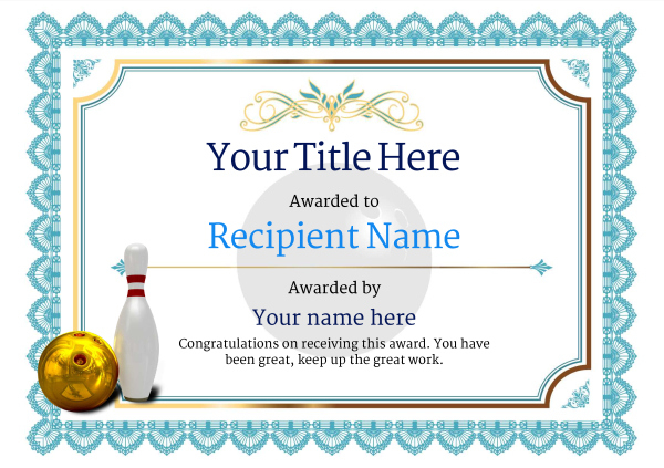 Free Ten Pin Bowling Certificate Templates Inc Printable Intended For Best Bowling Certificate Template