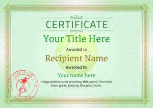 Free Tennis Certificate Templates – Add Printable Badges for Best Table Tennis Certificate Template Free