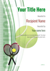 Free Tennis Certificate Templates – Add Printable Badges inside Quality Tennis Certificate Template