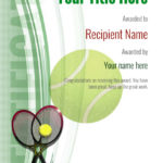 Free Tennis Certificate Templates – Add Printable Badges Pertaining To Tennis Gift Certificate Template