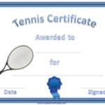 Free Tennis Certificate Templates   Certificate Templates Pertaining To Tennis Gift Certificate Template