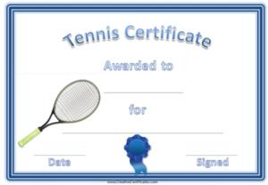 Free Tennis Certificate Templates | Certificate Templates pertaining to Tennis Gift Certificate Template