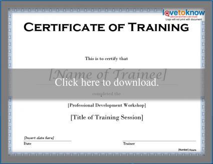 Free Training Certificate Templates | Lovetoknow with Quality Template For Training Certificate