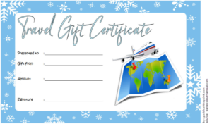 Free Travel Gift Certificate Template (1) – Templates intended for Travel Gift Certificate Editable