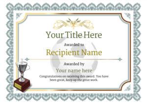 Free Uk Football Certificate Templates – Add Printable throughout Football Certificate Template