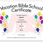 Free Vbs Attendance Certificate Template Download Regarding Vbs Attendance Certificate Template