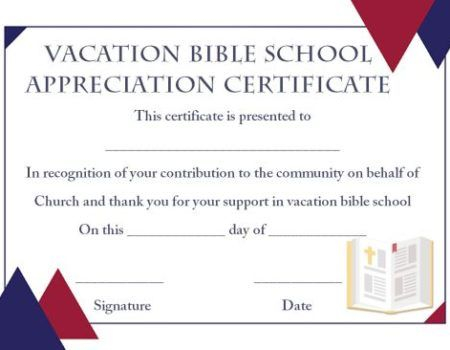 Free Vbs Certificate Templates (2) - Templates Example with regard to Best Free Vbs Certificate Templates