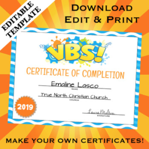 Free Vbs Certificate Templates (7) – Templates Example regarding Best Free Vbs Certificate Templates