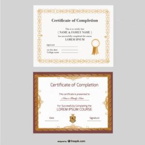Free Vector | Beautiful Certificate Templates inside Beautiful Certificate Templates
