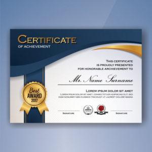 Free Vector   Certificate Of Achievement Template for Certificate Of Accomplishment Template Free
