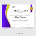 Free Vector | Certificate Of Achievement Template Within New Certificate Of Accomplishment Template Free