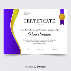 Free Vector   Certificate Of Achievement Template within New Certificate Of Accomplishment Template Free