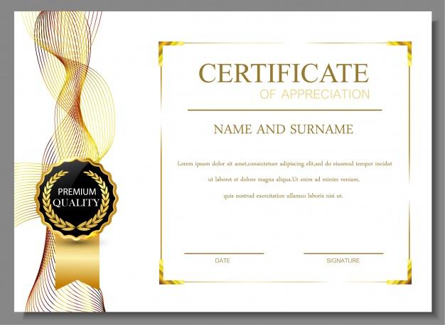 Free Vector | Certificate Of Appreciation Design in Free Certificate Of Appreciation Template Downloads