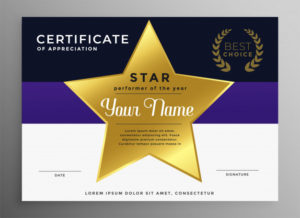 Free Vector | Certificate Of Appreciation Template With intended for Star Performer Certificate Templates