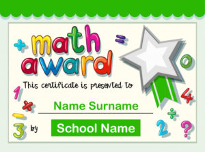 Free Vector | Certificate Template For Math Award within Quality Math Achievement Certificate Printable
