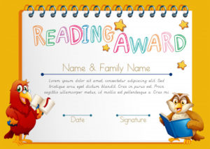 Free Vector | Certificate Template For Reading Award with regard to Reading Achievement Certificate Templates