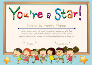 Free Vector | Certificate Template For Star inside Star Award Certificate Template