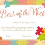 Free Vector | Certificate Template With Children Background Regarding Best Children'S Certificate Template