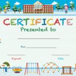 Free Vector   Certificate Template With Kids In Winter At School Regarding Best Free Kids Certificate Templates