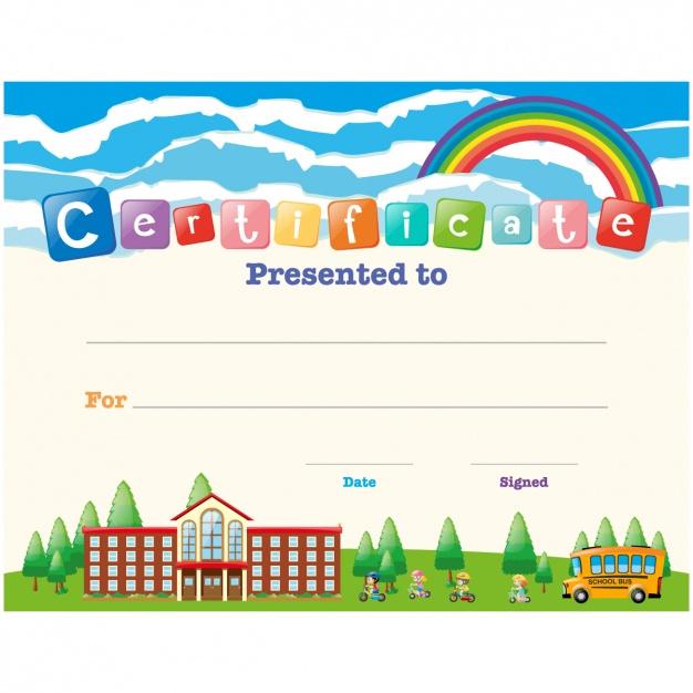 Free Vector | Children Certificate Design within Children'S Certificate Template