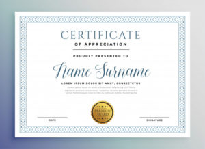 Free Vector | Classic Certificate Award Template regarding Fresh Template For Certificate Of Award