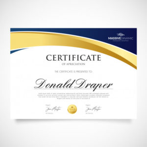 Free Vector | Elegant Appreciation Certificate Template with Unique Elegant Certificate Templates Free