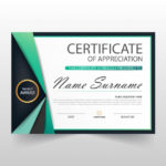 Free Vector | Elegant Certificate Of Appreciation Template Inside Elegant Certificate Templates Free