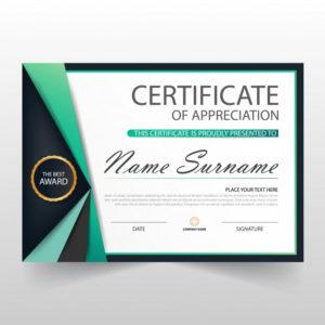 Free Vector | Elegant Certificate Of Appreciation Template inside Elegant Certificate Templates Free