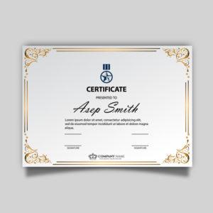 Free Vector | Elegant Certificate Template regarding Elegant Certificate Templates Free