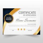 Free Vector | Elegant Horizontal Certificate Template for Elegant Certificate Templates Free