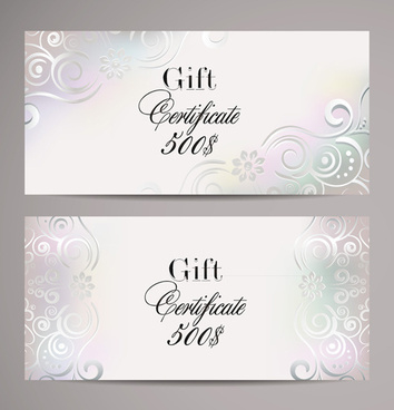 Free Vector Gift Certificate Template Free Vector Download throughout Best Elegant Gift Certificate Template