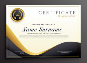 Free Vector | Luxury Certificate Of Appreciation Template For Downloadable Certificate Of Recognition Templates