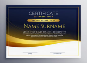 Free Vector | Professional Certificate Of Appreciation Template within Printable Certificate Of Recognition Templates Free
