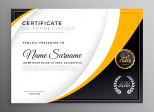 Free Vector   Professional Certificate Template Diploma with regard to Fresh Winner Certificate Template Ideas Free