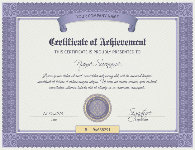 Free Vector | Qualification Certificate Template Within Qualification Certificate Template