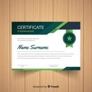 Free Vector | Star Badge Certificate Template within Star Certificate Templates Free