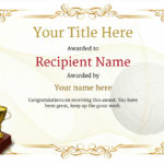 Free Volleyball Certificate Templates – Add Printable Badges For Volleyball Mvp Certificate Templates