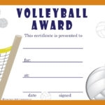 Free Volleyball Certificates | Trophycentral | Volleyball regarding Quality Volleyball Award Certificate Template Free