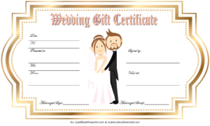 Free Wedding Gift Certificate Template Word With Golden within Unique Free Editable Wedding Gift Certificate Template