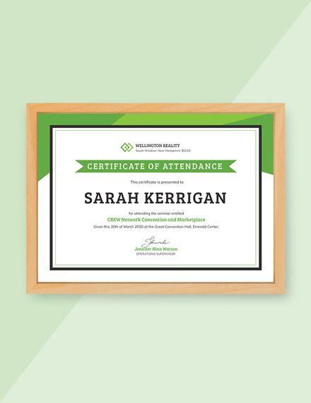 Free Workshop Attendance Certificate Template – Word (Doc In Blessing Certificate Template Free 7 New Concepts