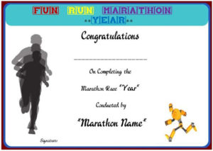 Fun Run Certificate Template : 14+ Editable Free Word for Finisher Certificate Template 7 Completion Ideas