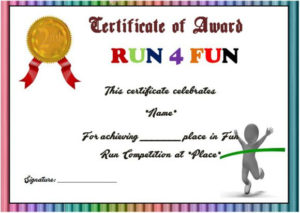Fun Run Certificate Template : 14+ Editable Free Word for Unique Marathon Certificate Template 7 Fun Run Designs