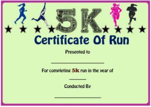 Fun Run Certificate Template : 14+ Editable Free Word in 5K Race Certificate Templates