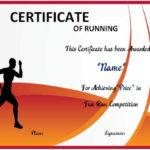 Fun Run Certificate Template : 14+ Editable Free Word In Marathon Certificate Template 7 Fun Run Designs